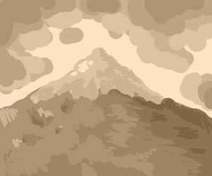 mountain with snow cap