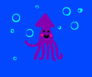 Very well drawn squid