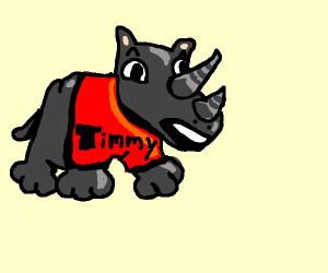 Timmy The Rhino Has Fear