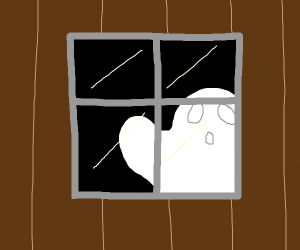 Ghost in a window
