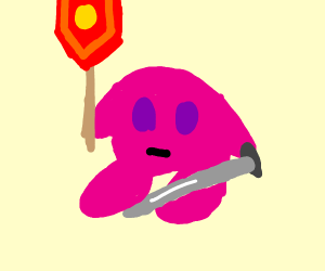 Kirby goes to the Crusades.