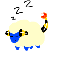 sleeping sheep electric pokemon