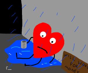 Heartbroken in the rain