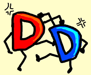 red drawception fight with blue drawception