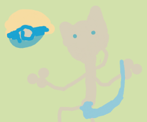 mew two with a cat