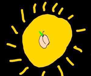 Peach on the Sun