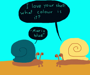 Snail with a mario blue shell