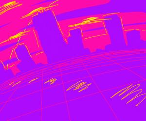 vaporwave cityscape
