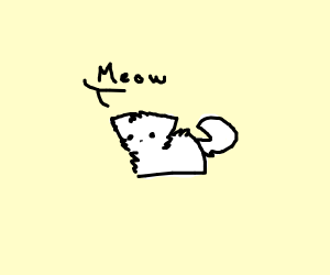 leg-less cat says meow