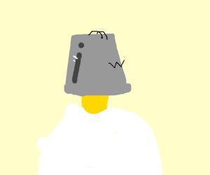 Homer Simpson Has Bucket On His Head