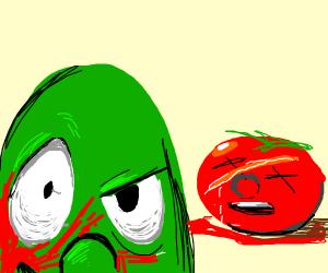 Larry killed bob the tomato
