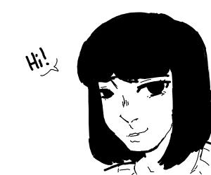 Lady says hi