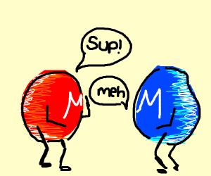 M&Ms chatting