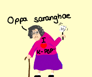 Grandma like K-Pop
