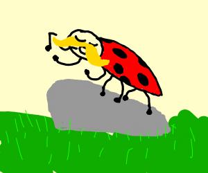yodeling bug with mustash