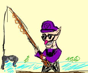 waluigi fishing for bra