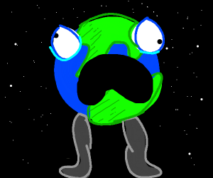 Earth with legs
