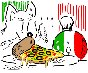 Pizza with ......   black olives:0