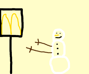 snow man wants some mickey d's