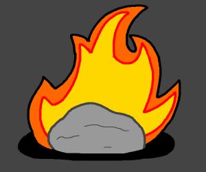 Stone somehow burning