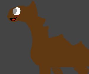 Happy brown dinosaur