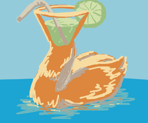 Cocktail headed water bird