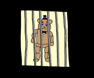 Freddy (fnaf) in jail