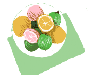 Citrus fruits on a plate