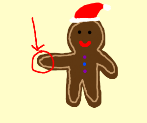 Gingerbread Man's Hand