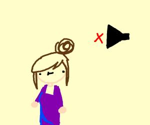 Mute woman