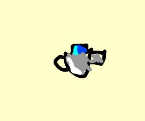 bottle cap on tea kettle