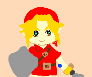 Link but in red
