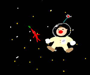Pikmin & Olimar in space
