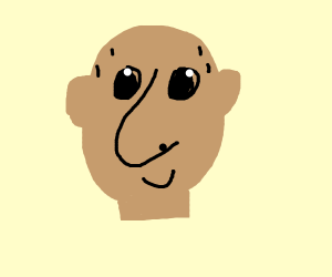 Bald man with large nose
