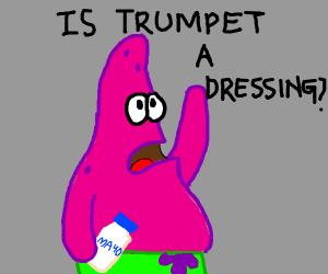 Patrick playing mayonnaise