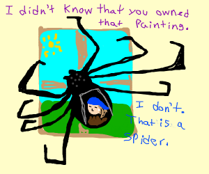 spider disguised as painting