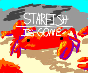 Crab Rave, mean noises over a starfish