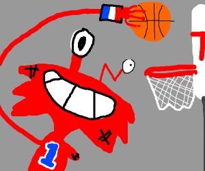 Wilt playing basketball