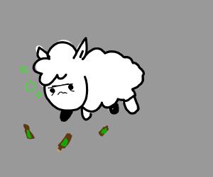 Drunk sheep