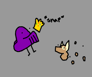 Thanos snaps innocent puppy