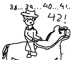 Cowboy has counted 42