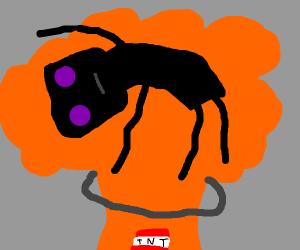 enderman on an explosion