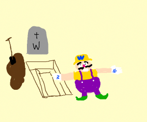 Wario rises from the dead