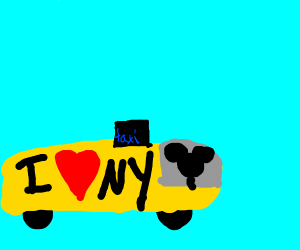 mickey mouse the taxi driver in NY