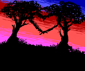 Trees in love