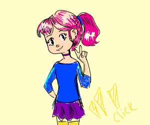 Pink hair Supermodel