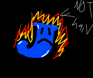 The letter J on fire