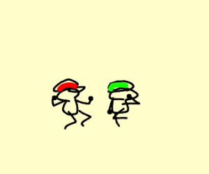 mario and luigi doing fortnite dances