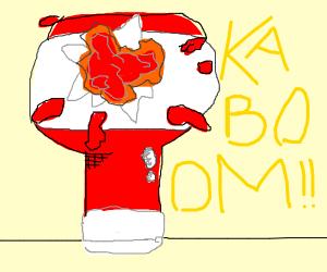 Exploding ketchup