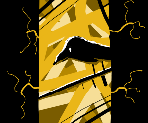 crow on a branch silhouette